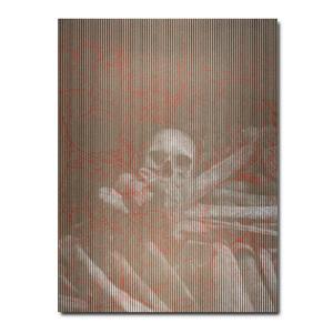 195. Silkscreen Skull Print, 18 x 24